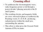 crossing effect