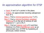 an approximation algorithm for etsp