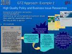 gtz approach example 2