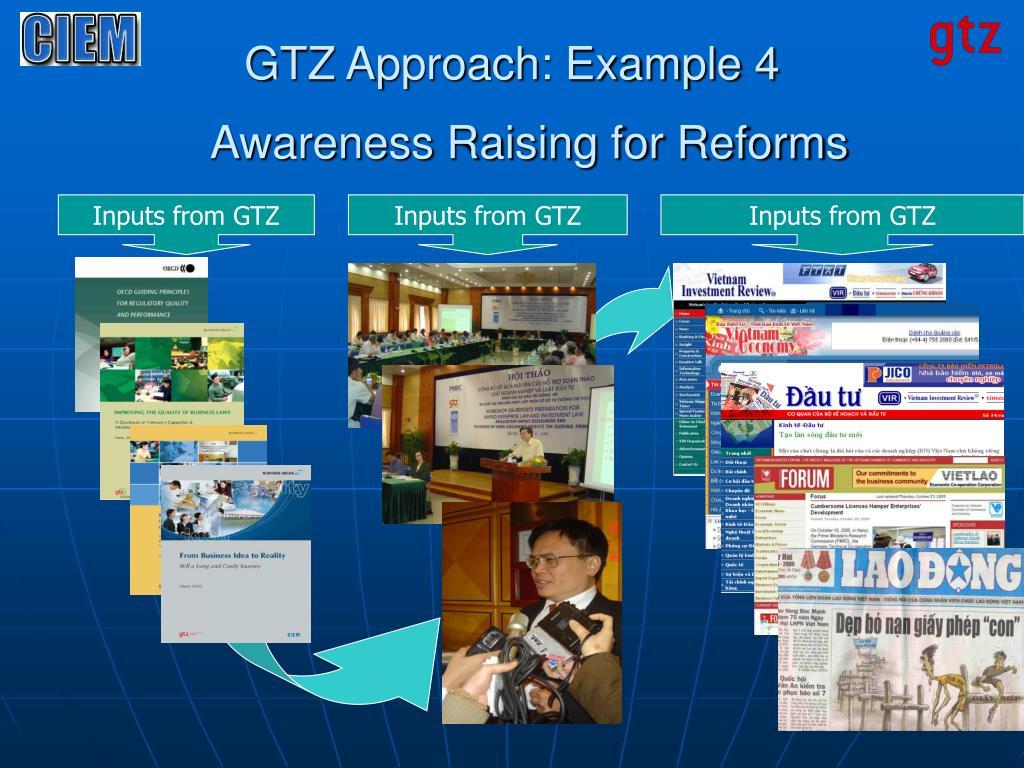 GTZ Approach: Example 4