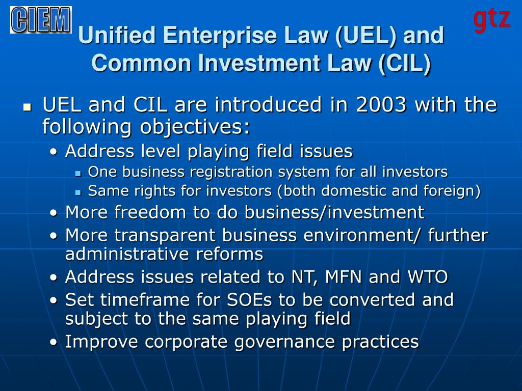 Unified Enterprise Law (UEL) and