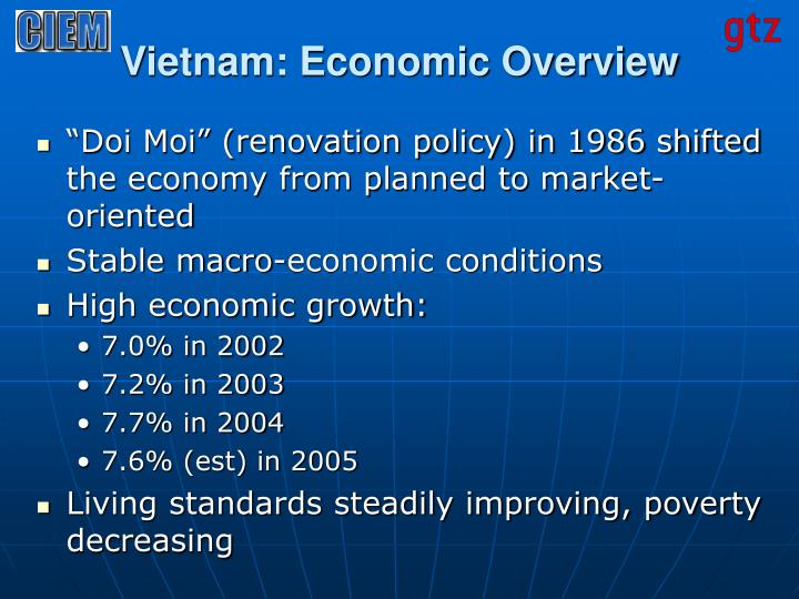 Vietnam economic overview