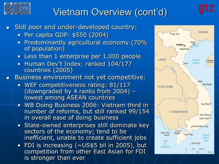 Vietnam overview cont d