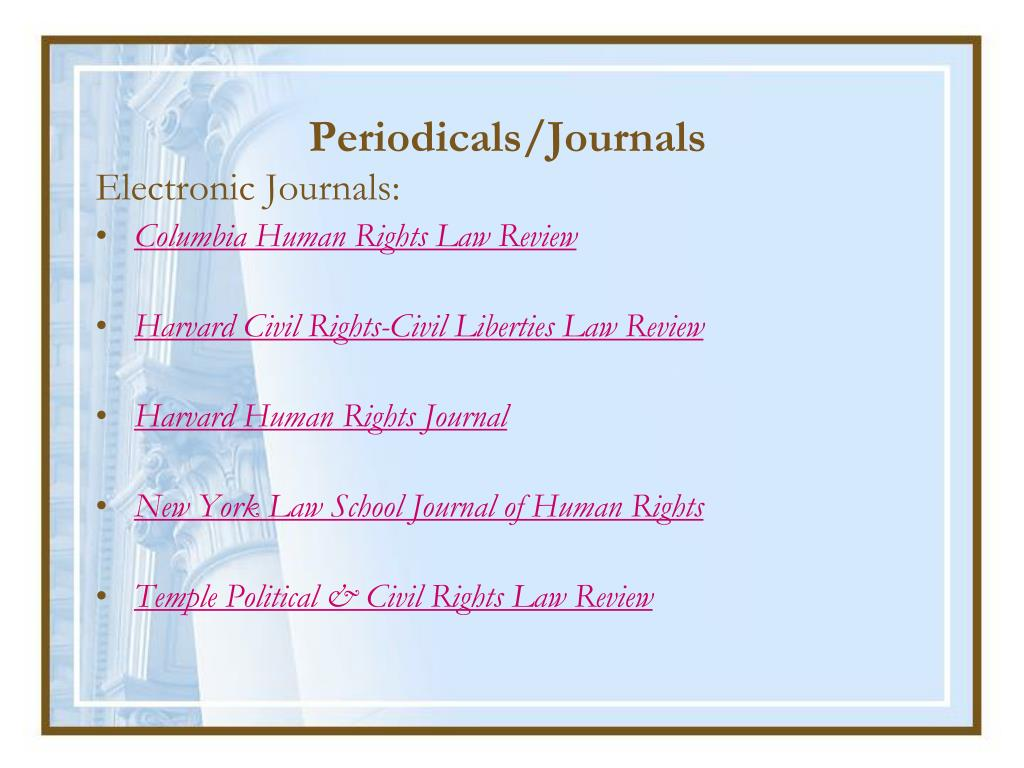 Periodicals/Journals