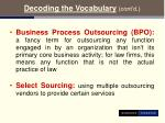 decoding the vocabulary cont d