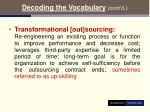 decoding the vocabulary cont d10