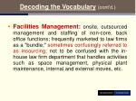 decoding the vocabulary cont d11