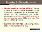 decoding the vocabulary cont d12