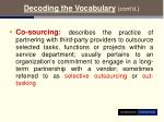 decoding the vocabulary cont d13
