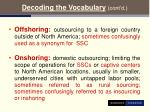 decoding the vocabulary cont d7