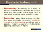 decoding the vocabulary cont d8