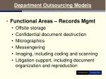 department outsourcing models17