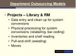 department outsourcing models18