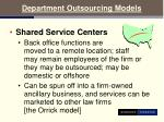 department outsourcing models20