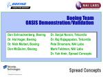 boeing team oasis demonstration validation