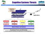 cognitive systems thrusts