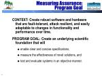 measuring assurance program goal