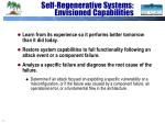 self regenerative systems envisioned capabilities