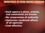 advantages of using unified command8