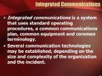 integrated communications