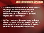 unified command structure