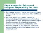 illegal immigration reform and immigrant responsibility act 1996