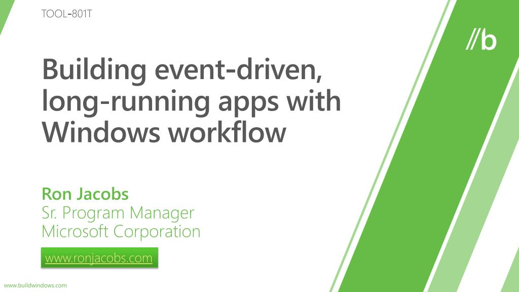 building event driven long running apps with windows workflow l.