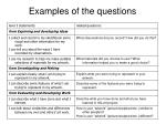 examples of the questions