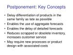 postponement key concepts