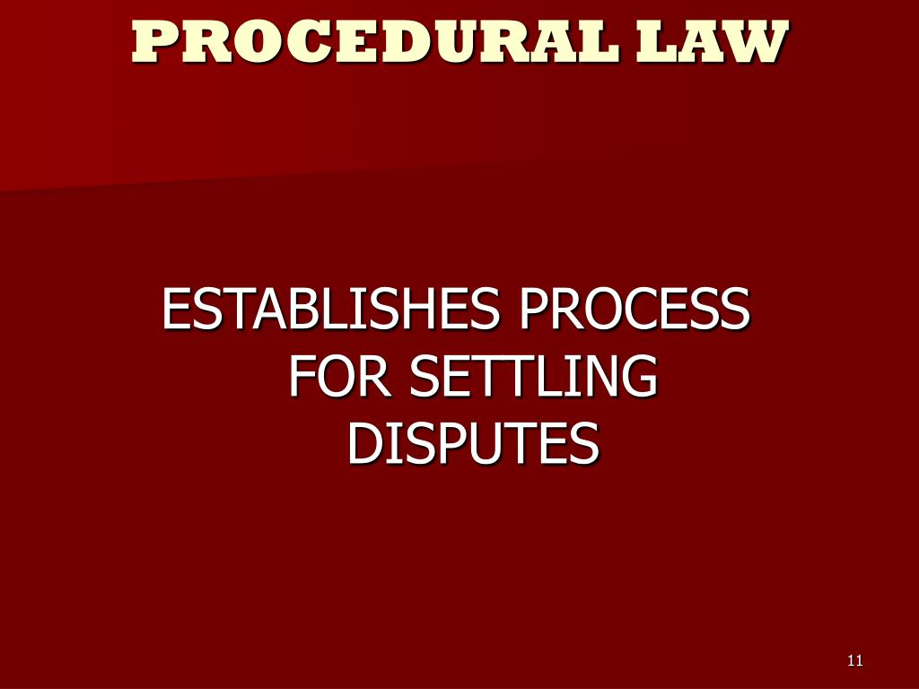 ESTABLISHES PROCESS FOR SETTLING DISPUTES