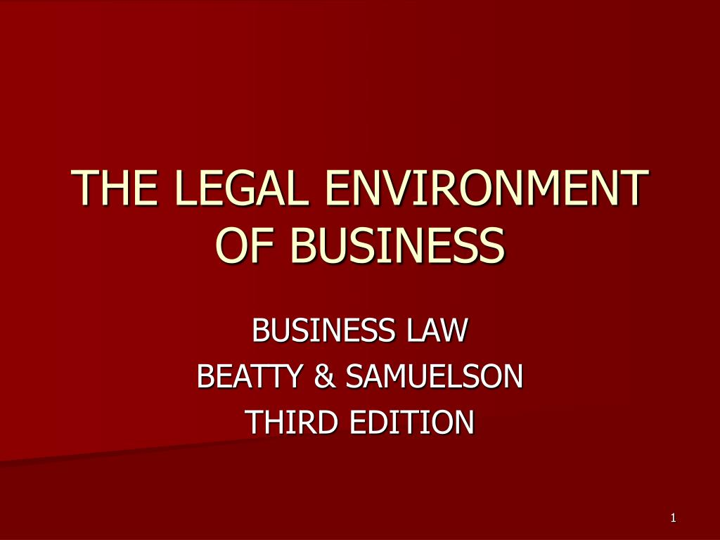 the legal environment of business l.
