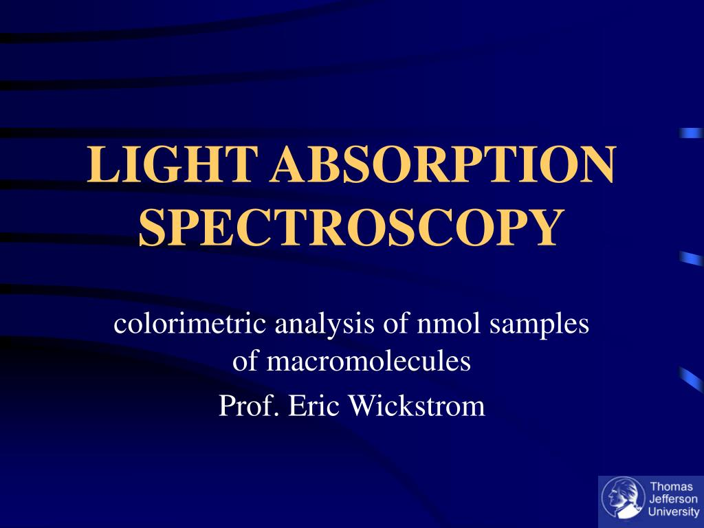 light absorption spectroscopy l.