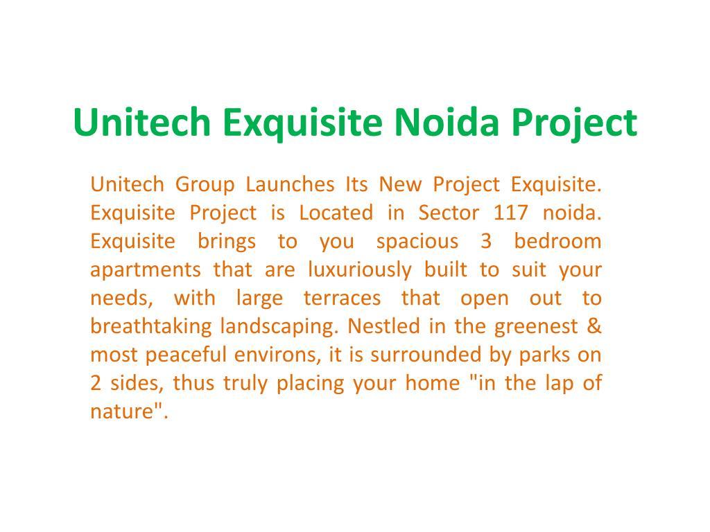 unitech exquisite noida project l.