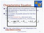 characterizing equation