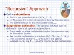 recursive approach