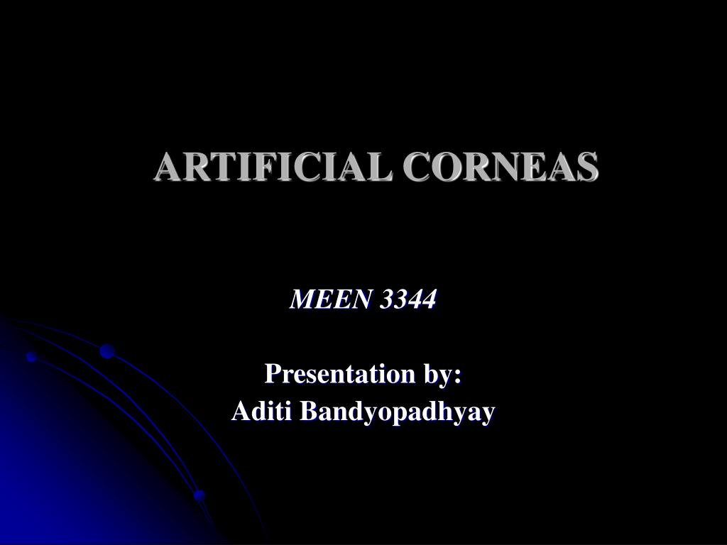 artificial corneas l.