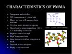 characteristics of pmma