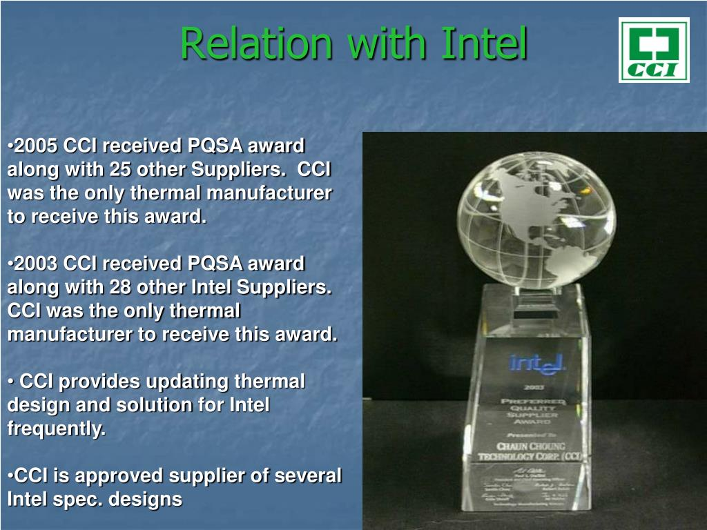 Relation with Intel