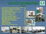 s ervice capabilities r d