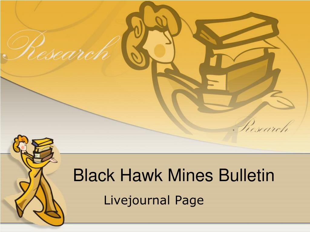 black hawk mines bulletin l.