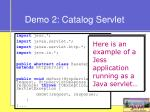 demo 2 catalog servlet