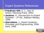 expert systems references