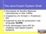 the java expert system shell