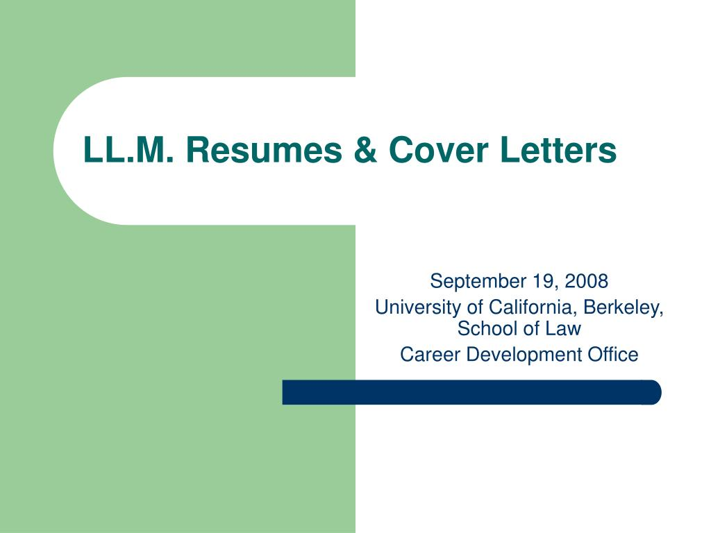 ll m resumes cover letters l.