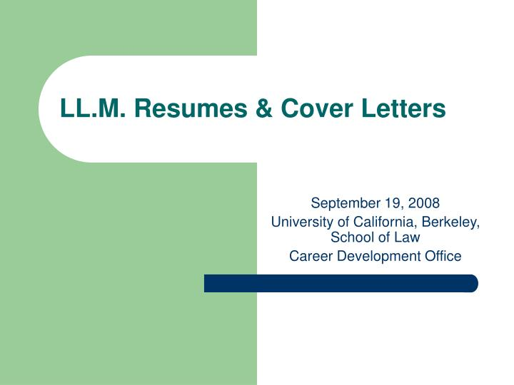 Ll m resumes cover letters
