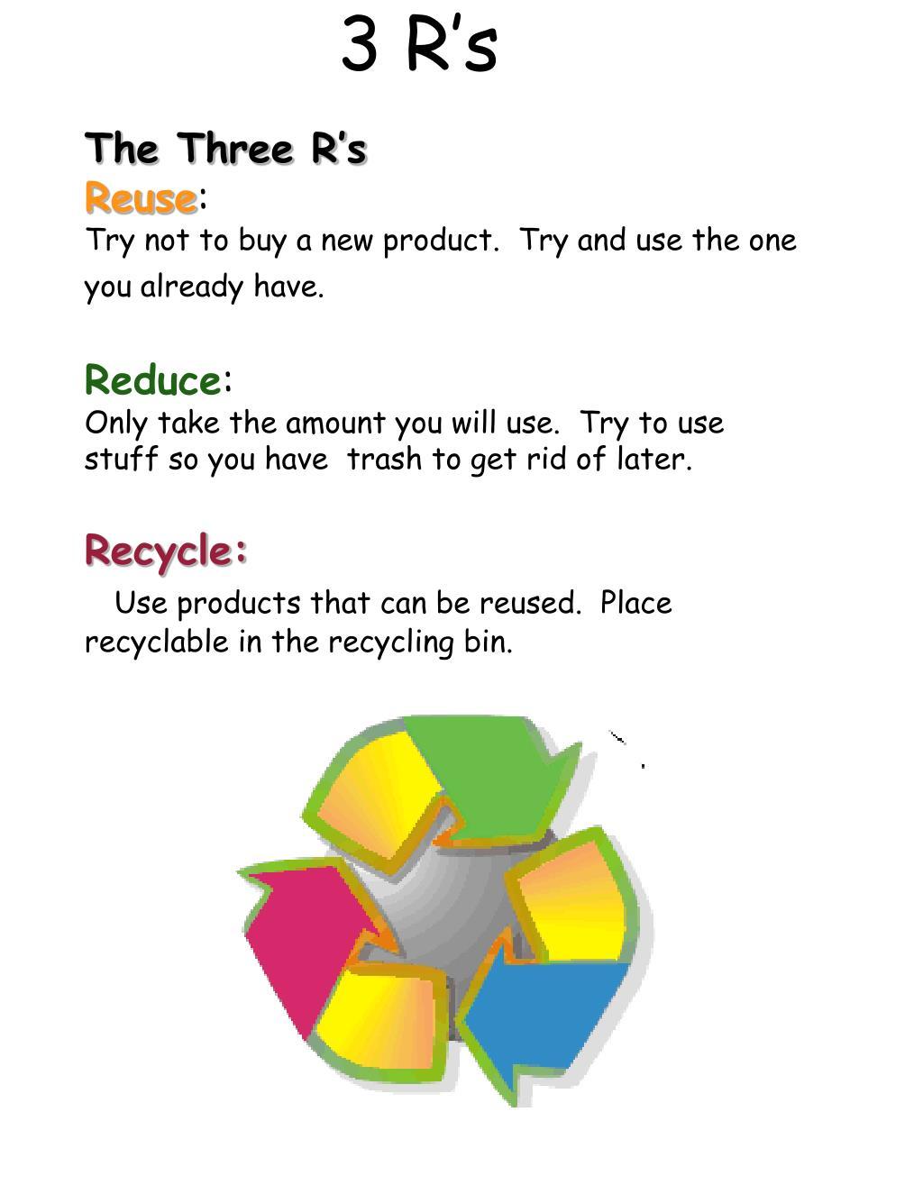 3 R's
