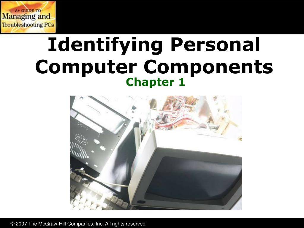 identifying personal computer components l.