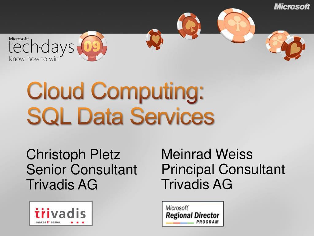 cloud computing sql data services l.