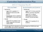 curriculum implementation plan