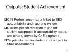 outputs student achievement